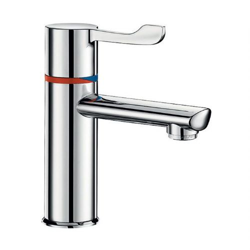 Delabie H9600610L SECURITHERM Seq Thermostatic Deck-Mounted 100mm Lever Basin Mixer - Copper Tail